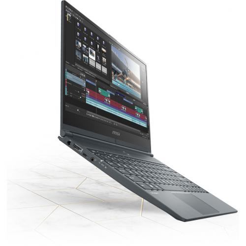 "MSI Modern 14 B10MW 014 14"" Business Notebook   Full HD   1920 X 1080   Intel Core I5 (10th Gen) I5 10210U 1.60 GHz   8 GB RAM   256 GB SSD   Win 10 Pro   Onyx Black Alternate-Image6/500"