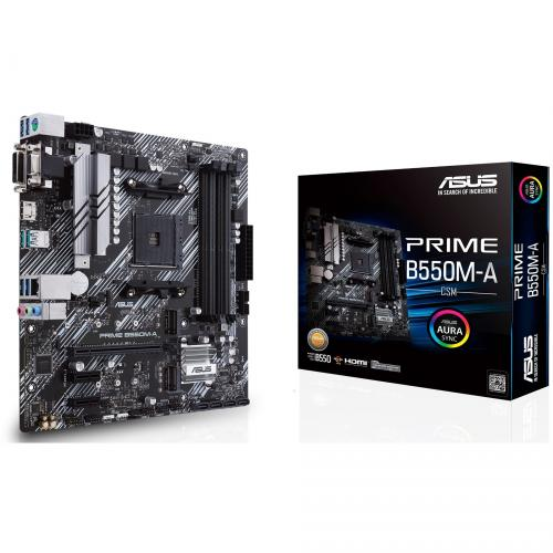 Asus Prime B550M A/CSM Desktop Motherboard   AMD Chipset   Socket AM4   Micro ATX Alternate-Image6/500