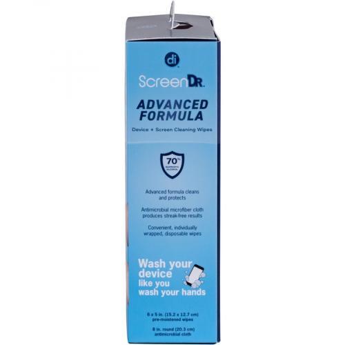 Digital Innovations Screen Dr Advanced Formula (70% Alcohol)Wet Wipes W/ Micofiber Cloth 120 Ct Alternate-Image6/500