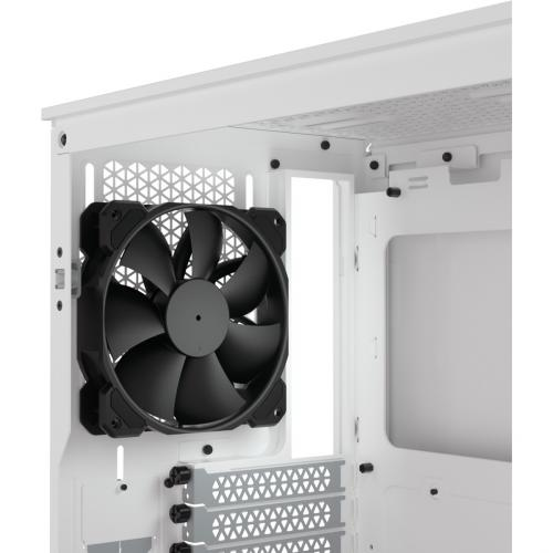 Corsair 4000D Tempered Glass Mid Tower ATX Case   White Alternate-Image6/500