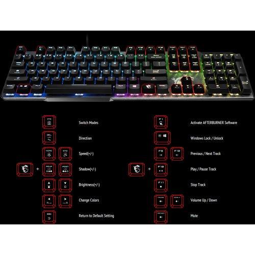 MSI VIGOR GK50 ELITE Gaming Keyboard Alternate-Image6/500