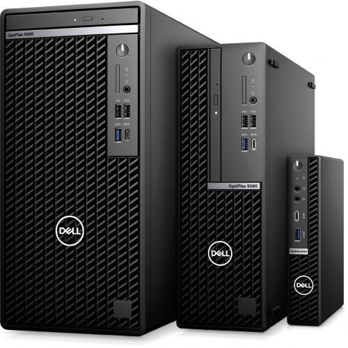 Dell OptiPlex 5000 5080 Desktop Computer   Intel Core I5 10th Gen I5 10500 Hexa Core (6 Core) 3.10 GHz   8 GB RAM DDR4 SDRAM   256 GB SSD   Small Form Factor   Black Alternate-Image6/500