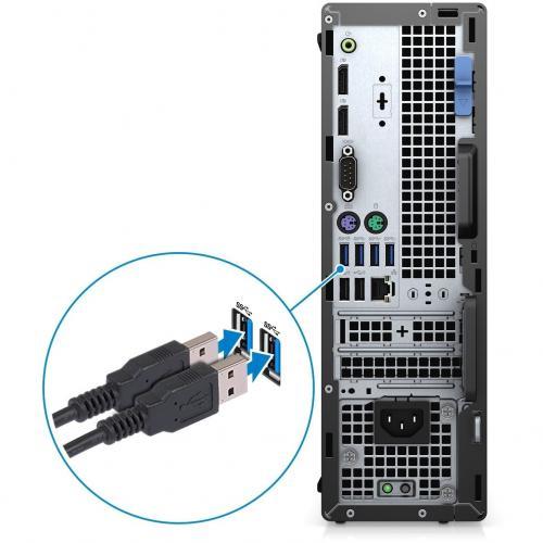 Dell OptiPlex 7000 7080 Desktop Computer   Intel Core I7 10th Gen I7 10700 Octa Core (8 Core) 2.90 GHz   8 GB RAM DDR4 SDRAM   256 GB SSD   Small Form Factor Alternate-Image6/500