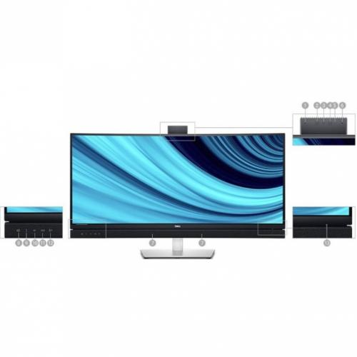 """Dell C3422WE 34.1"""" WQHD Curved Screen Edge WLED LCD Monitor   21:9   Platinum Silver Alternate-Image6/500"""