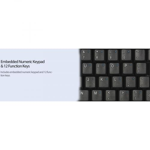 Adesso AKB 410UB Slim Touch Mini Keyboard With Built In Touchpad Alternate-Image7/500