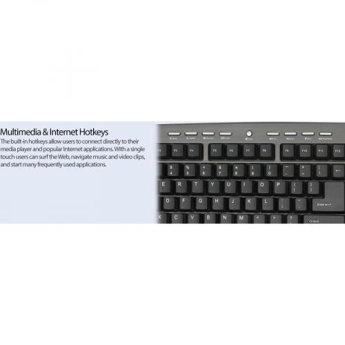 Adesso AKB 430UG Win Touch Pro Desktop Keyboard With Glidepoint Touchpad Alternate-Image7/500
