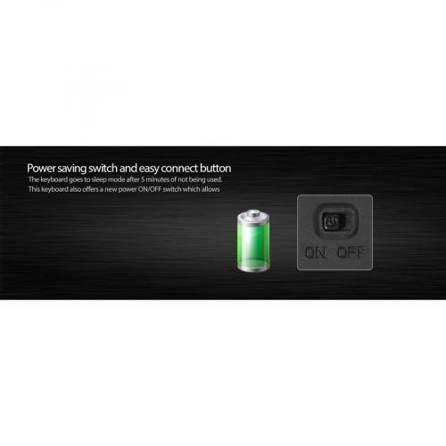 Adesso Wireless SlimTouch Desktop Touchpad Keyboard Alternate-Image7/500