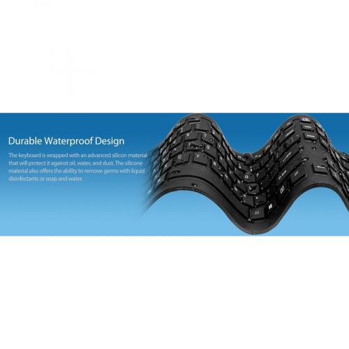 Adesso Antimicrobial Waterproof Flex Keyboard Alternate-Image7/500