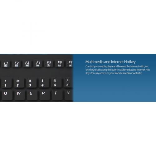 Adesso SlimTouch 270   Antimicrobial Waterproof Touchpad Keyboard Alternate-Image7/500