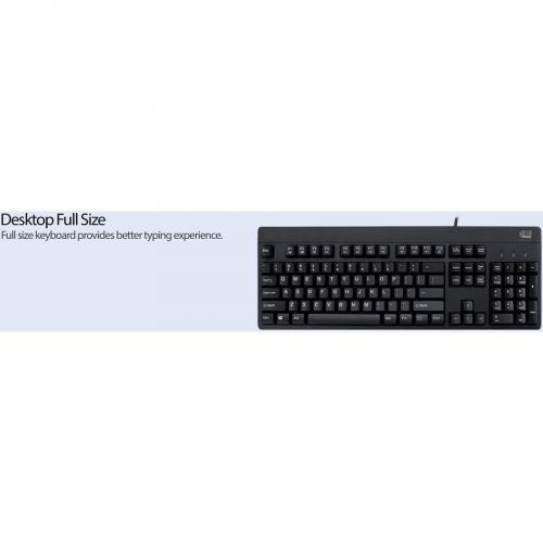 Adesso EasyTouch 630UB   Antimicrobial Waterproof Keyboard Alternate-Image7/500