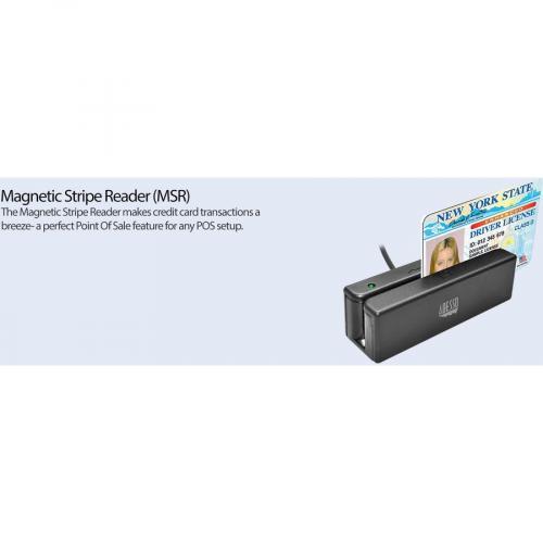 Adesso MSR 100 Magnetic Stripe Card Reader Alternate-Image7/500