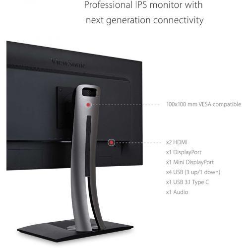 "Viewsonic VP2785 4K 27"" 4K UHD WLED LCD Monitor   16:9   Black Alternate-Image7/500"