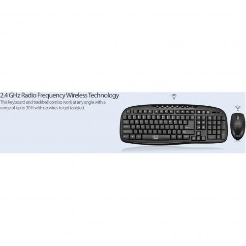 Adesso WKB 1330CB   2.4 GHz Wireless Desktop Keyboard And Mouse Combo Alternate-Image7/500