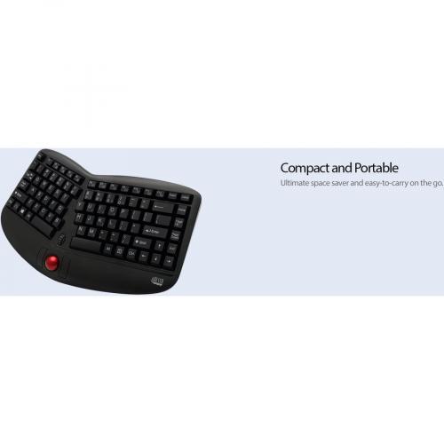 Adesso Tru Form Media 3150   2.4 GHz Wireless Ergo Trackball Keyboard Alternate-Image7/500