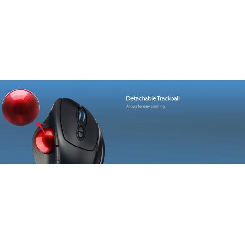 Adesso IMouse T30   Wireless Programmable Ergonomic Trackball Mouse Alternate-Image7/500