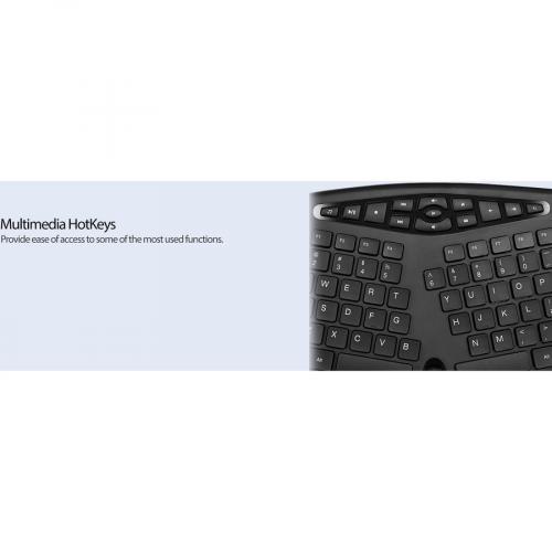 Adesso TruForm Media 160   Ergonomic Desktop Keyboard Alternate-Image7/500