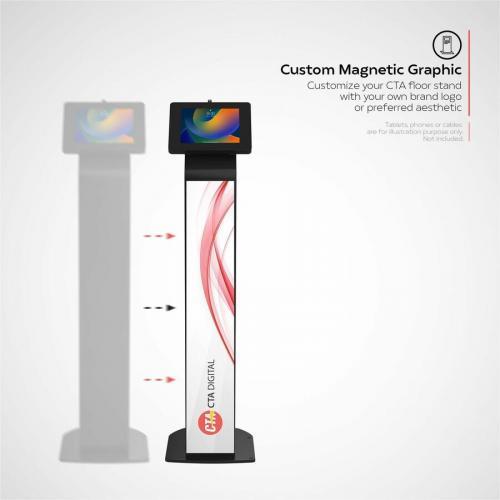 CTA Digital Premium Locking Floor Stand Kiosk Alternate-Image7/500