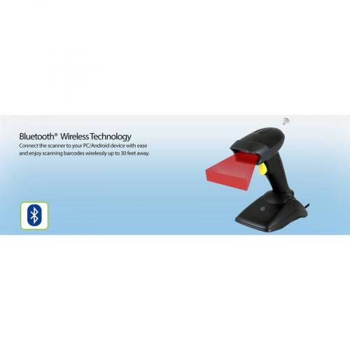Adesso NUSCAN 2500TB Bluetooth Spill Resistant Antimicrobial 2D Barcode Scanner Alternate-Image7/500