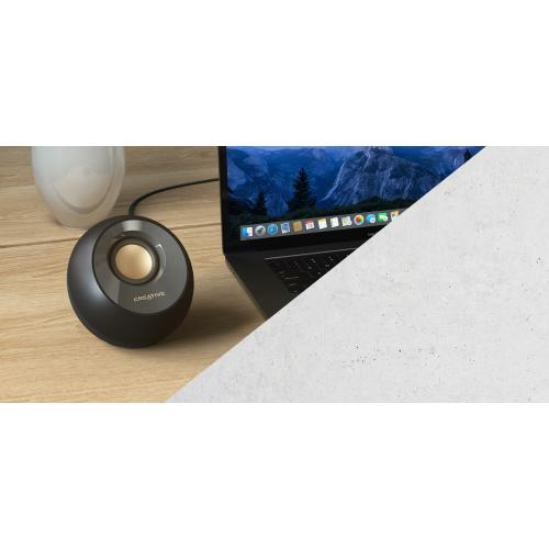 Creative Pebble V2 2.0 Speaker System   8 W RMS   Black Alternate-Image7/500
