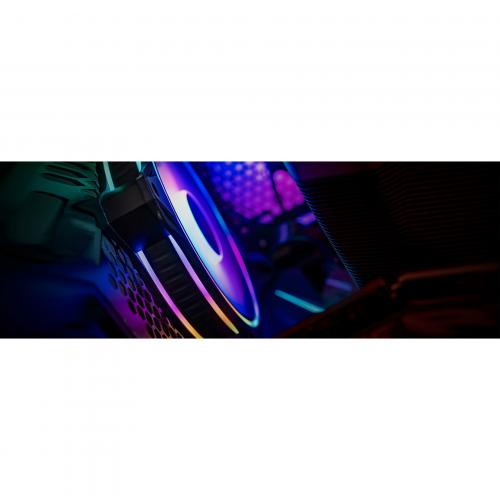 Cooler Master MasterFan MF120 Halo Duo Ring Addressable RGB Lighting 120mm Fan With Independently Controlled LEDs, Absorbing Rubber Pads, PWM Static Pressure For Computer Case & Liquid Radiator Alternate-Image7/500