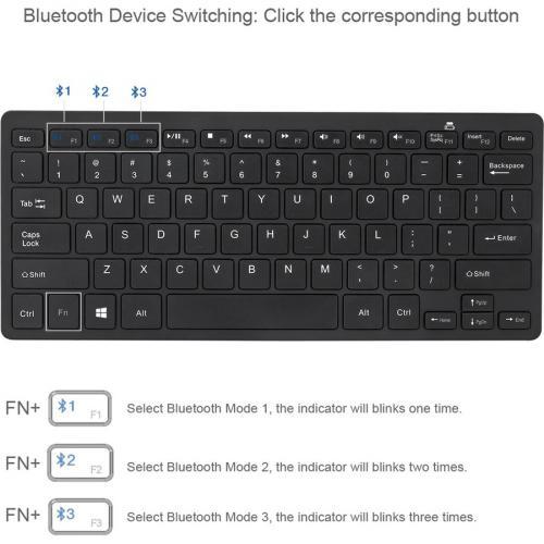 Adesso Bluetooth Wireless SlimTouch Mini Keyboard Alternate-Image7/500
