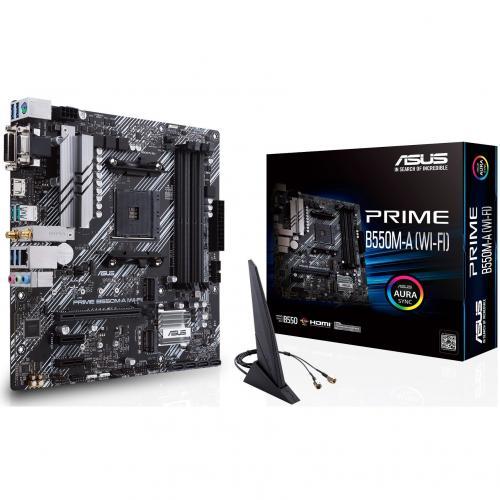 Asus Prime B550M A (WI FI) Desktop Motherboard   AMD Chipset   Socket AM4   Micro ATX Alternate-Image7/500
