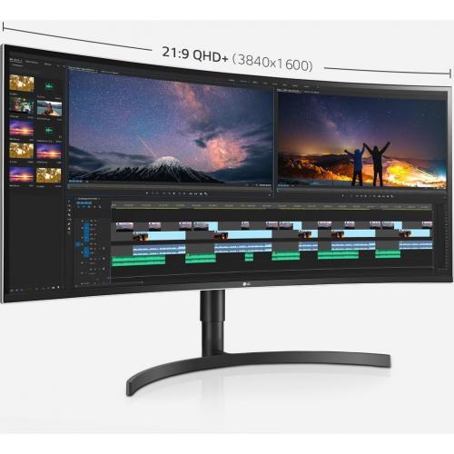 "LG Ultrawide 38BN75C B 38"" UW QHD+ Curved Screen LCD Monitor   21:9   High Glossy Black, Silver Spray Alternate-Image7/500"