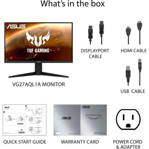 "TUF VG27AQL1A 27"" WQHD WLED Gaming LCD Monitor   16:9   Black Alternate-Image7/500"