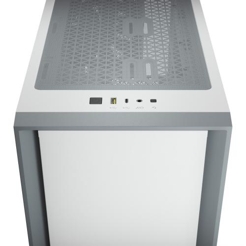 Corsair 4000D Tempered Glass Mid Tower ATX Case   White Alternate-Image7/500