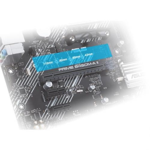 Asus Prime B450M A II Desktop Motherboard   AMD Chipset   Socket AM4   Micro ATX Alternate-Image7/500