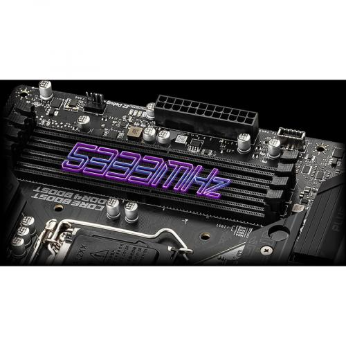 MSI MPG Z590 GAMING PLUS Desktop Motherboard   Intel Chipset   Socket LGA 1200   Intel Optane Memory Ready   ATX Alternate-Image7/500