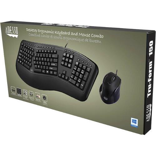Adesso TruForm 150CB Desktop Ergonomic Keyboard & Mouse Combo Alternate-Image8/500