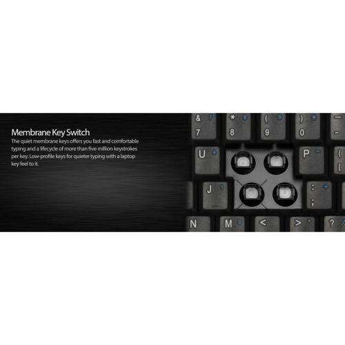 Adesso AKB 410UB Slim Touch Mini Keyboard With Built In Touchpad Alternate-Image8/500