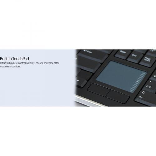 Adesso Wireless SlimTouch Desktop Touchpad Keyboard Alternate-Image8/500