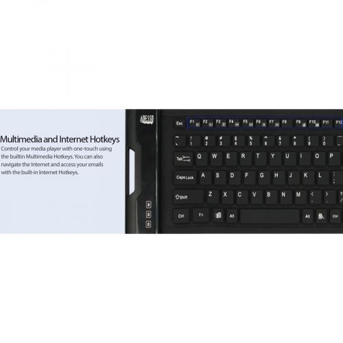 Adesso SlimTouch 222 Antimicrobial Waterproof Flex Keyboard (Compact Size) Alternate-Image8/500