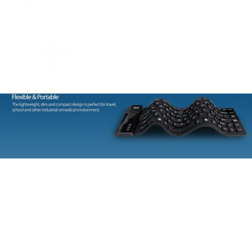 Adesso AKB 212UB   Antimicrobial Waterproof Flex Keyboard (Mini Size) Alternate-Image8/500