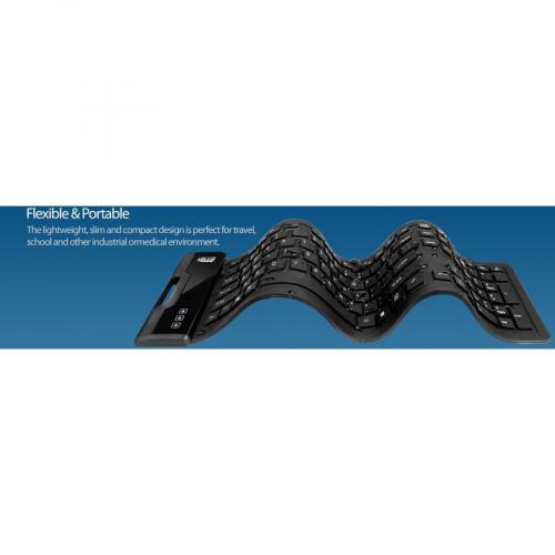 Adesso Antimicrobial Waterproof Flex Keyboard Alternate-Image8/500