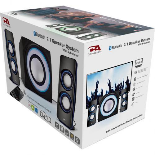Cyber Acoustics Curve CA 3712BT 2.1 Bluetooth Speaker System   Black Alternate-Image8/500