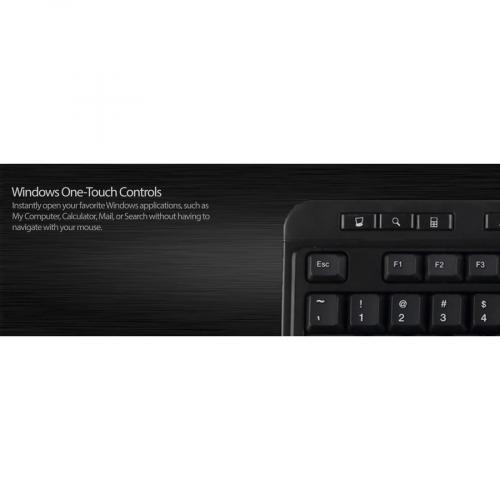 Adesso AKB 132HB  Multimedia Desktop Keyboard With 3 Port USB Hub Alternate-Image8/500