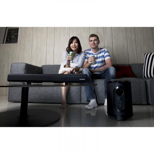 AVerMedia SonicBlast GS333 2.1 Bluetooth Sound Bar Speaker   60 W RMS   Black, Blue Alternate-Image8/500
