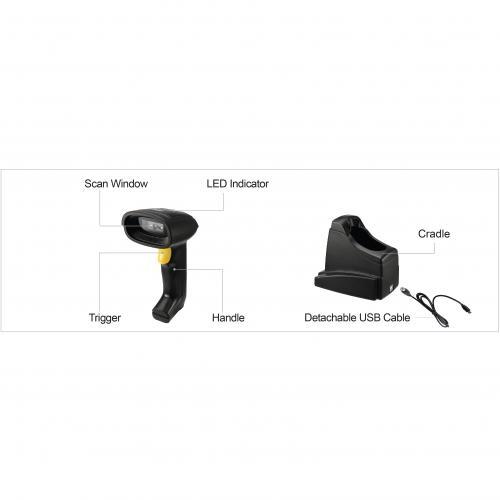Adesso NuScan 7400TR Handheld Barcode Scanner Alternate-Image8/500