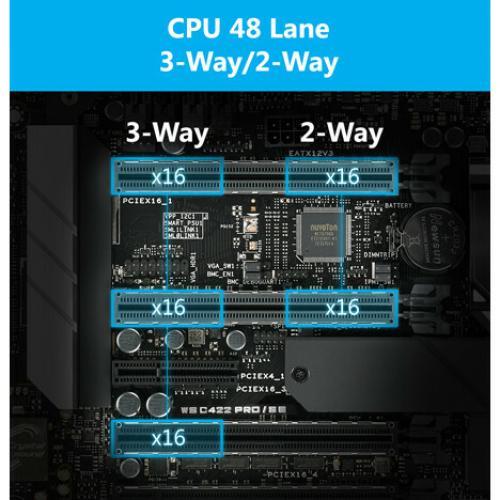 Asus WS C422 PRO/SE Workstation Motherboard   Intel Chipset   Socket R4 LGA 2066   ATX Alternate-Image8/500