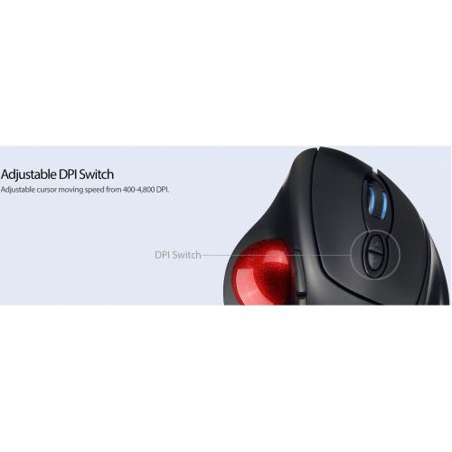 Adesso IMouse T30   Wireless Programmable Ergonomic Trackball Mouse Alternate-Image8/500