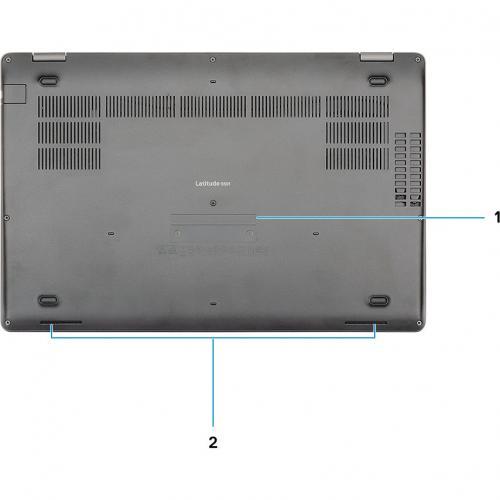 """Dell Latitude 5000 5501 15.6"""" Notebook   1920 X 1080   Intel Core I7 (9th Gen) I7 9850H Hexa Core (6 Core) 2.60 GHz   16 GB RAM   512 GB SSD Alternate-Image8/500"""