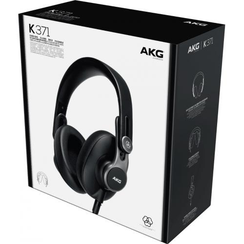 AKG K371 Over Ear, Closed Back Foldable Studio Headphones Alternate-Image8/500