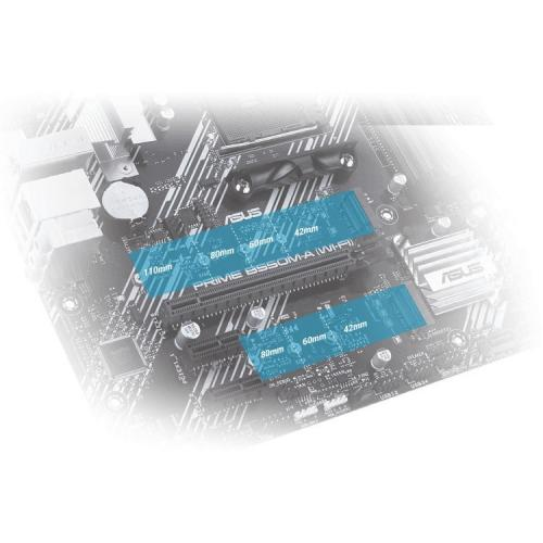 Asus Prime B550M A (WI FI) Desktop Motherboard   AMD Chipset   Socket AM4   Micro ATX Alternate-Image8/500