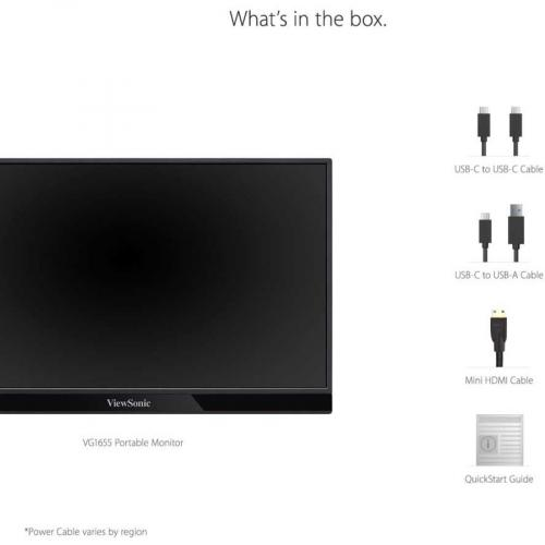 "Viewsonic VG1655 15.6"" Full HD LED LCD Monitor   16:9   Silver Alternate-Image8/500"