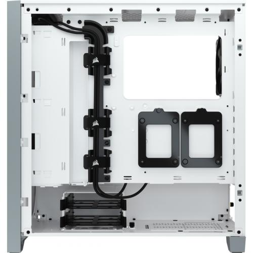 Corsair 4000D Tempered Glass Mid Tower ATX Case   White Alternate-Image8/500