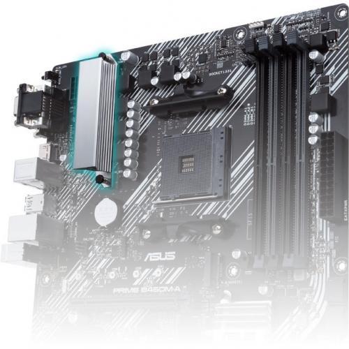 Asus Prime B450M A II Desktop Motherboard   AMD Chipset   Socket AM4   Micro ATX Alternate-Image8/500
