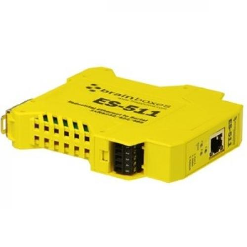 Brainboxes Industrial Ethernet To Serial 1xRS232/422/485 Bottom/500